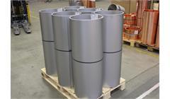 Rouleaux en tôle d'aluminium inox