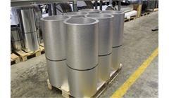 Rouleaux en tôle d'aluminium stucco